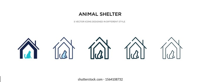 animal shelter icon in different style vector illustration. two colored and black animal shelter vector icons designed in filled, outline, line and stroke style can be used for web, mobile, ui