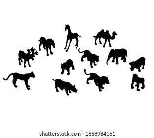 Animal silhouette design commercial use