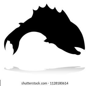 An animal silhouette of a fish