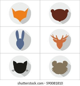 animal silhouette icons