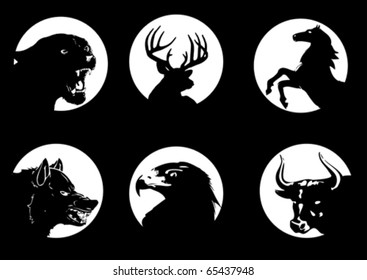 Animal silhouette on moonlight