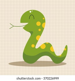 animal snake cartoon theme elements