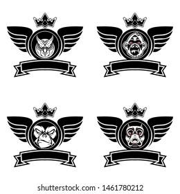 animal sport logo vector image