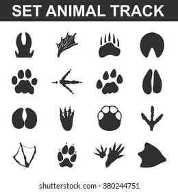 Animal Track Prints Set.