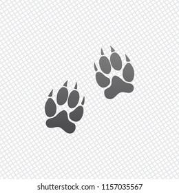 animal tracks icon. On grid background