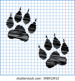 Animal Tracks with pen effect