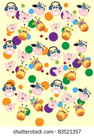 animal vector colorful pattern