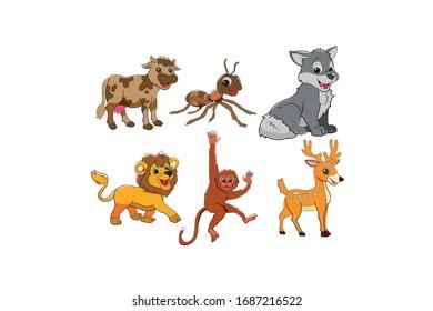 Animal Vector Design Illustration Bundle