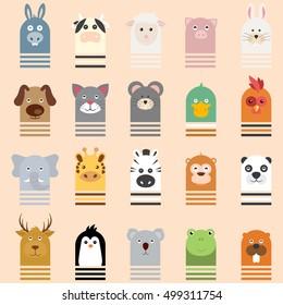 Animal Vector illustration Icon Setpet