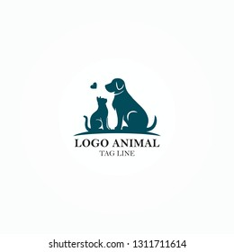 ANIMAL vector LOGO about animal affection