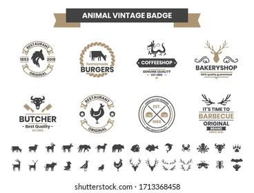 Animal Vintage Vector for banner, poster, flyer