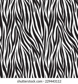 animal zebra print trendy fabric design, seamless swatch element included