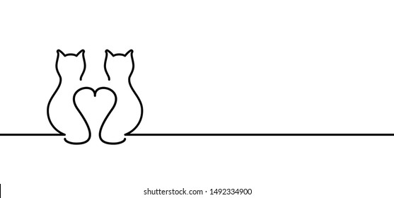 Animals Animal Cat puss Pussy Kitty line drawn pattern Vector Fun funny icon icons sign signs I love cats Meow Mowing sleep sleeps sleeping cat Happy kitten day Little young babby kittens Portrait day