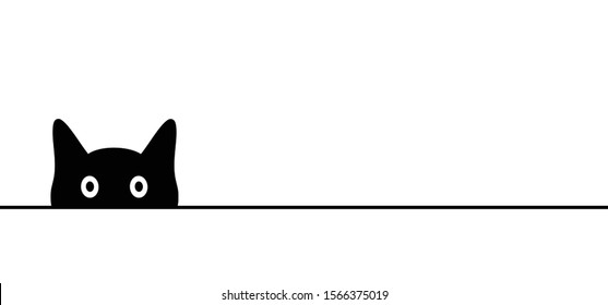 Animals Animal Cat puss Pussy Kitty line drawn pattern Vector Fun funny peeking icon icons sign signs I love cats Meow Mowing sleep sleeps sleeping cat Happy kitten day Little young babby kittens day