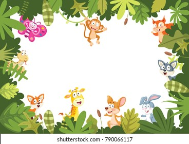 Animals Banner Vector Illustration