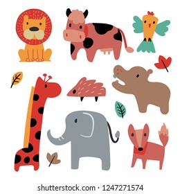 animals collection vector design