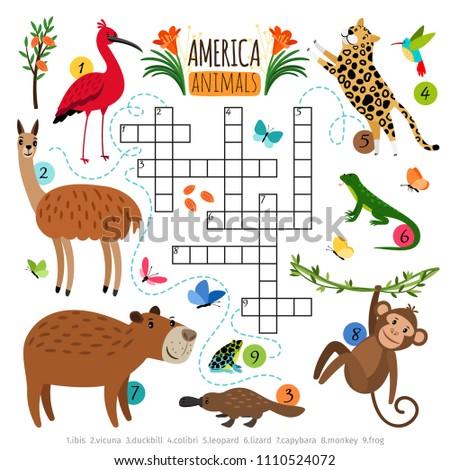 Animals crossword puzzle Wild
