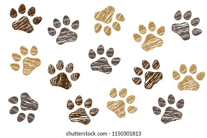 Animals day footsteps foot feet hound dog dogs paw woof puppy foot print vector icon footprints fun funny paws pet lovers sitter sign signs foot walks walking footmark silhouette steps toy bones bone