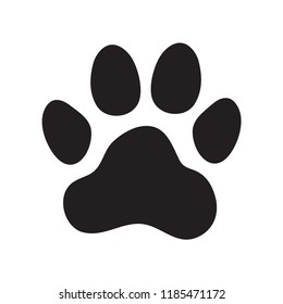 Animal's (dog's) paw print. Icon. Vector illustration.