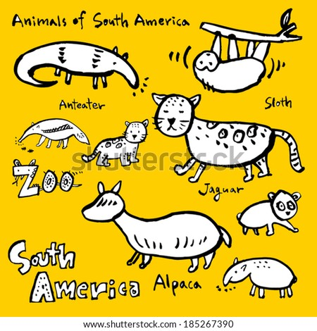Image of: Coloring Pages Animals Drawing Zoo Shutterstock Animals Drawing Zoo Stock Vector royalty Free 185267390 Shutterstock