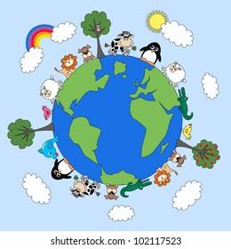 animals earth environ