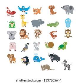 Animals Farm ABC for kids Vector