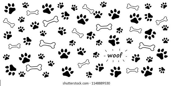 Animals Footsteps Foot Feet Hound Dog Dogs Paw Woof Puppy Print Vector Eps Icon Footprints