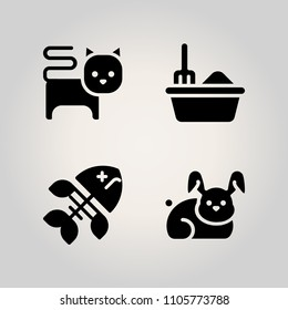Animals icon set. dung, plastic, holiday and small illustration vector icons for web and design