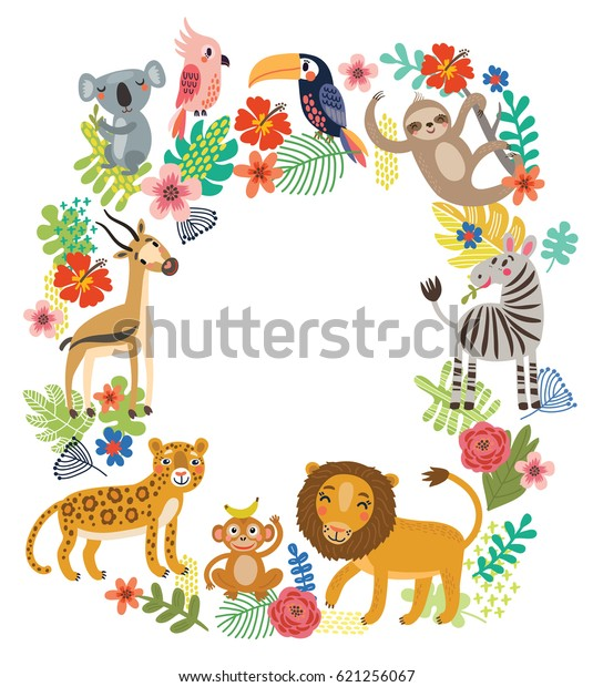 Animals of the jungle, frame.
