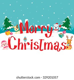 Animals And Merry Christmas Texts, Xmas, Happy New Year, Objects, Festive, Celebrations