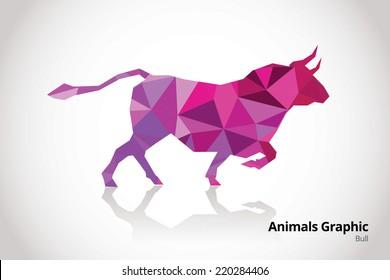 Animals Mosaic design - Bull