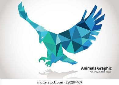 Animals Mosaic design - Eagle