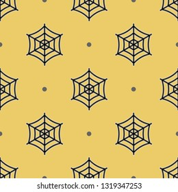 Animals, nature, wildlife. Repeating flat Spider web icon background pattern. Design for wrapping paper or greeting card.