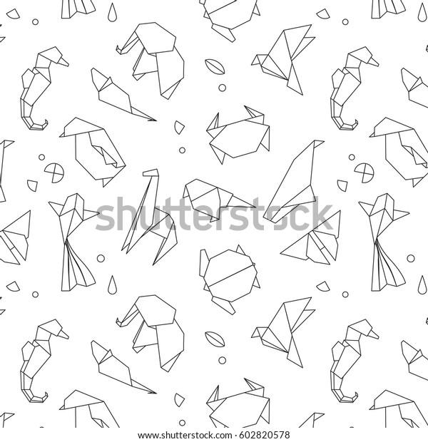 Image Vectorielle De Stock De Animaux Motif D Origami Serpent