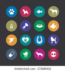 animals, pets icons universal set for web and mobile
