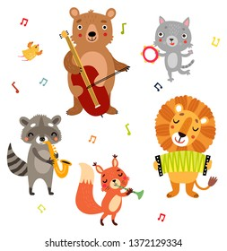 Animals play musical instruments
