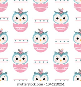 Animals repeat pattern. Nursery art background. Children's fabric pattern design.