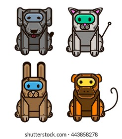 animals robot set