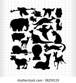 animals silhouettes