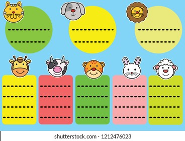 Animals Tags Cute Zoo happy notebook