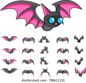 Animated bat creature for creating adventure video games