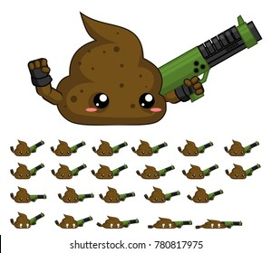 Animated turd character for creating fantasy video games