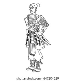 animation asian man to ancient clothes.