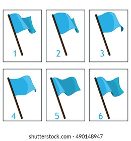 Animation blue flag