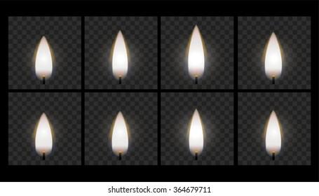 Animation of burning candle flame
