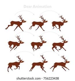 Animation deer running