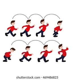 Animation man walking