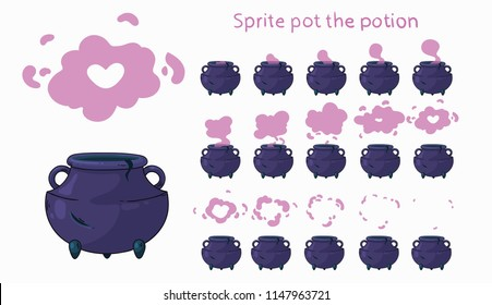 Animation pot. Sprite pot the potion.