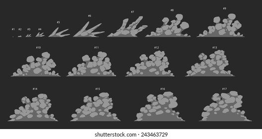 Animation of smoke or dust