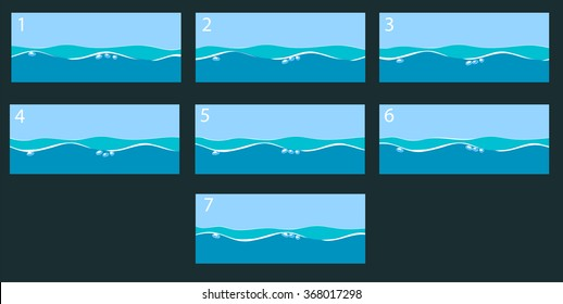 Animation water surface